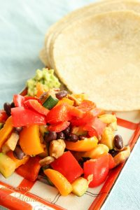 vegetables with tortillas