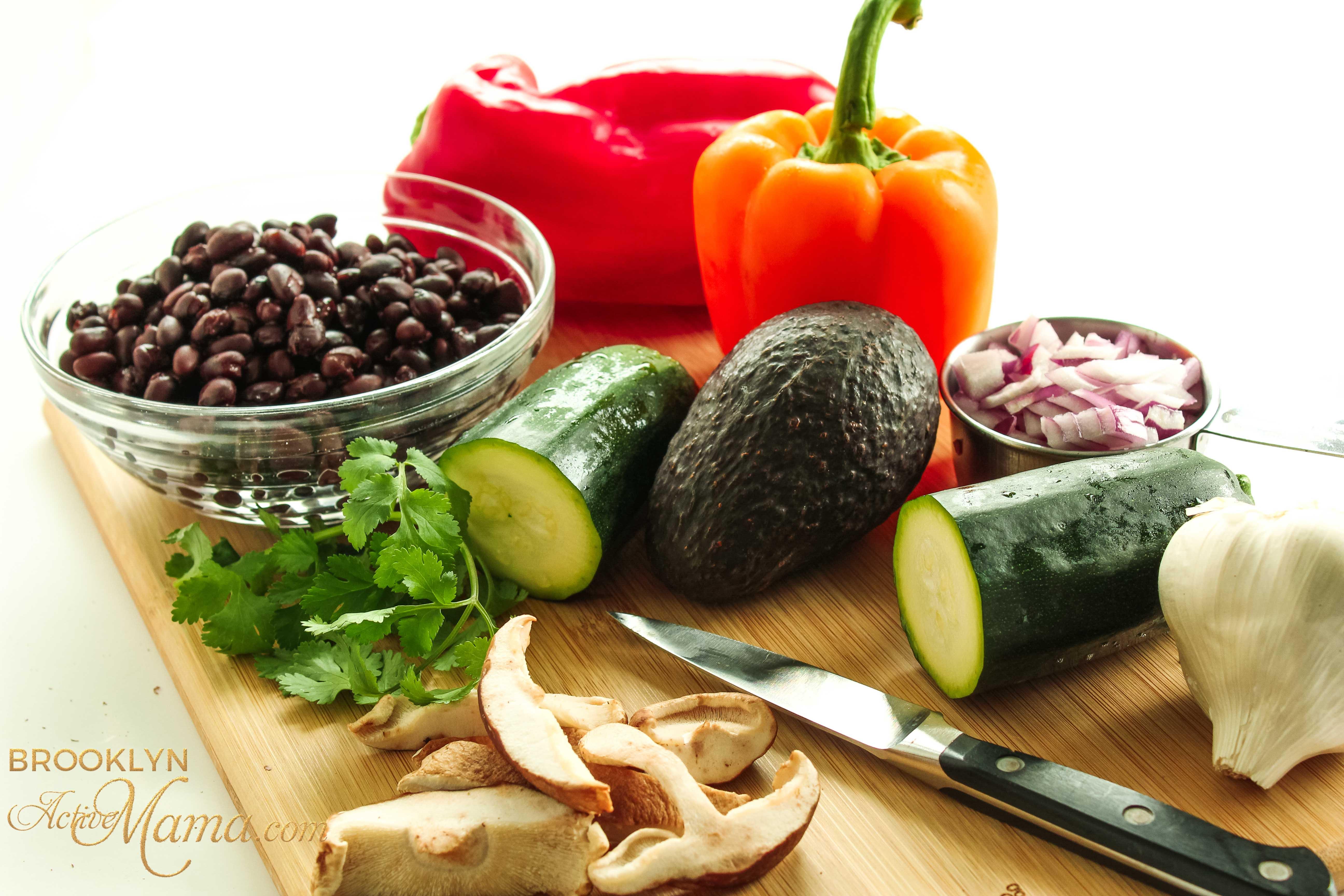 ingredients for veggie tacos