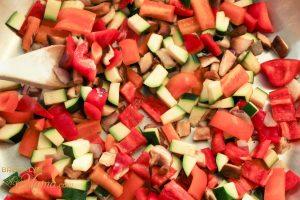 veggies cut up for veggie tacos