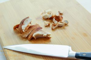 mushrooms sliced for veggie tacos