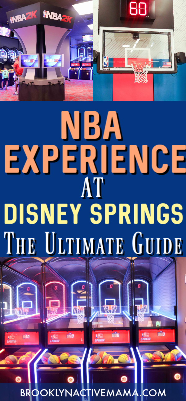 The NBA Experience In Disney Springs opened recently and here is everything you need to know when you visit! Perfect for all basketball fans, young and old! #disneysprings #nbaexperience #disneytips