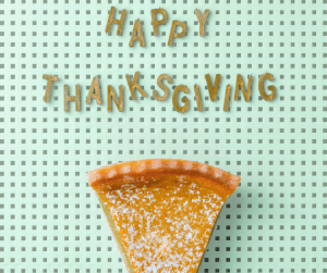 happy thanksgiving on a board with a slice of pie Thanksgiving is such a fantastic time to share what you are thankful for. This interactive and fun thanksgiving gratitude game involves everyone at the table!