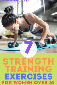 One way to fight a slowing metabolism is with a great strength training routine. Here are 7 of the best strength training exercises for women over 35! #strengthtraining #weightlifting