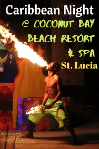 The Caribbean Night at the all inclusive Coconut Bay Beach Resort and Spa in St. Lucia is one of the most awesome island experiences you will ever have. I am sharing all about the food, music, ambiance and of course the fire breathers. See it for yourself! #stlucia #island #travel #caribbean