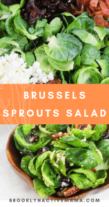This incredibly easy brussels sprouts salad features pecans, bacon, cranberries and feta cheese! Impress your guests with this alternative to regular salad!