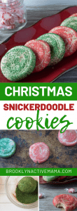 These easy and yummy Christmas Snickerdoodle Cookies are so fun an easy to make! They have a slight peppermint flavor that is perfect for the holidays. It's a great way to get the whole family including the kids baking for the holiday! These Red and Green decorated cookies are the best and will be the star of the cookie exchange! They are also fantastic for Christmas parties, they are soft baked with a hint of peppermint and cinnamon. #christmascookies #chirstmasfun #christmasbaking