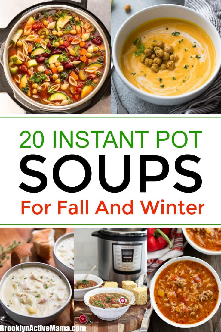 It's finally soup season! It's so easy to have a hearty soup ready in about half the time with these delicious Instant Pot soups that you will devour! #instantpot #soups #instantpotrecipes