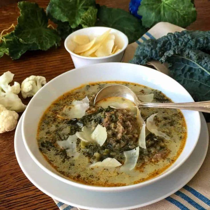 Instant Pot Low Carb Italian Sausage Kale Soup