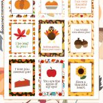 """Add some holiday fun to your kids lunchbox with these fun and free printable thanksgiving lunchbox notes! Share encouraging fun fall holiday themed notes like """"Have a great day pumpkin!"""" and """"I be-leaf in you"""" so cute! #thanksgiving #lunchboxnotes #lunchbox #fall #thanksgivingprintable"""