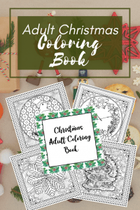 Here are some awesome free Christmas Adult coloring pages for you to enjoy and destress from the busy holiday season! 5 awesome pages included in this printable download pdf! #adultcoloring #adultcoloringbooks #christmascoloringbooks