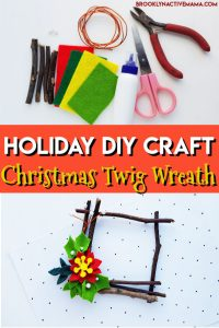 Christmas is such a fun time to create holiday DIY crafts! It's super relaxing and it helps get you into a festive mood! Check out this fun twig Christmas Wreath ornament craft that is so fun to make! #ornaments #diyornament #christmascraft #diychristmas