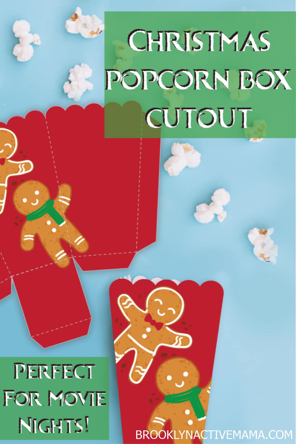 Christmas movies are a delight for kids all over the world. Find out 10 of the best Christmas movies for kids on Netflix you can watch this holiday season. Plus a fun popcorn Christmas gingerbread printable cutout that you can use for popcorn or any other Christmas treat! #Netflix #Christmasmovies #ChristmasPrintable