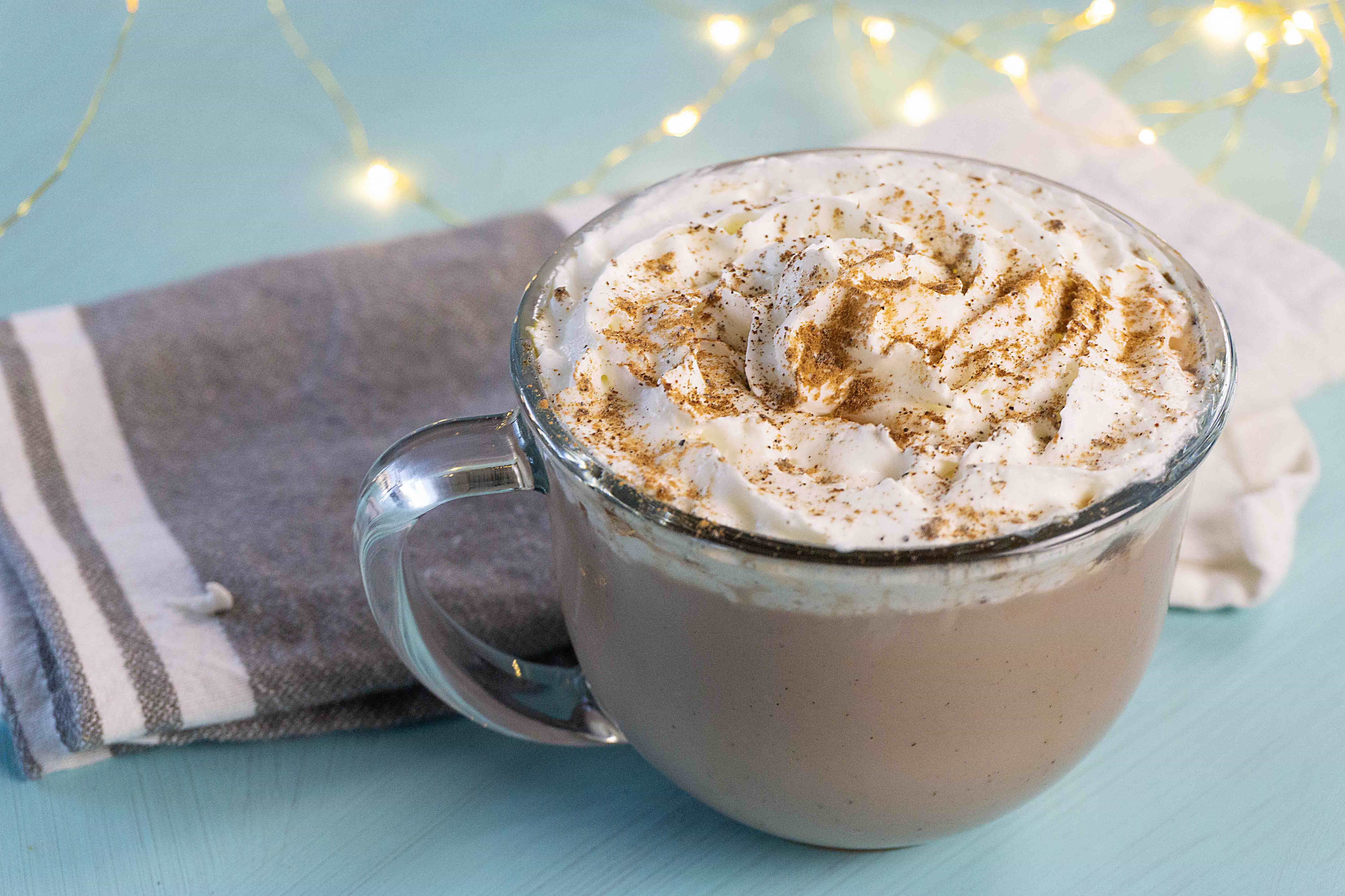 This yummy gingerbread recipe will warm you right up during the cold winter months and you likely have all the ingredients you need right in your pantry! This easy homemade recipe makes for the perfect hot drink in the winter time. Ingredients include cinnamon, clove, allspice and cardamon. #hotchocolate #warmdrinks #winterdrinks #homemadehotchocolate
