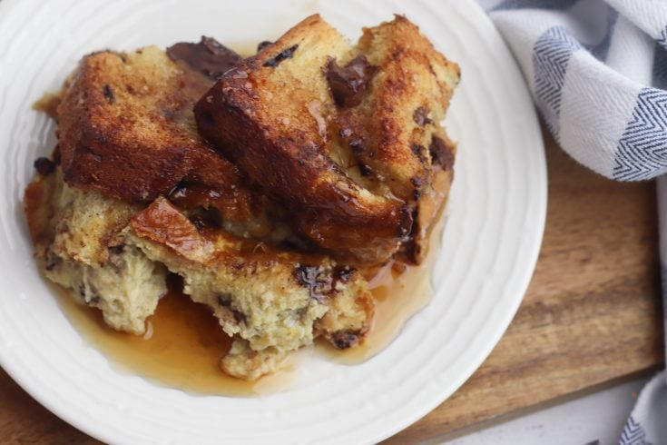 Amazing Chocolate Chip French Toast Bake