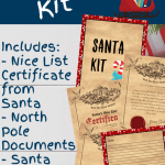 Here is a free letter to Santa Printable for you to send right to the North Pole! Create some Christmas magic this holiday season for the kids with this fun download! #freeprintable #ChristmasPrintables #funfortheholidays