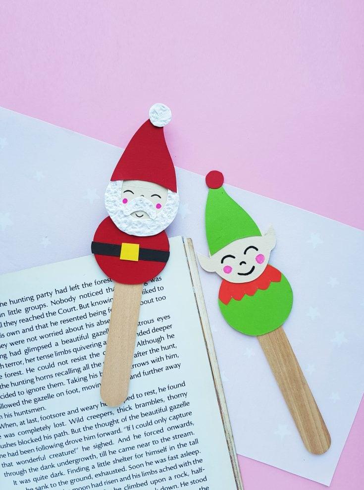 Snowman & Elf Bookmark Christmas Craft