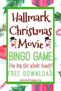 We all love Hallmark Christmas Movies, let's make our binge watching a bit more fun with this Hallmark Christmas Movie Bingo game! Enjoy your favorite Christmas movies with family by playing this fun game! #ChristmasMovies #hallmarkChannel #BingoGame #Christmasgame #holidaygames