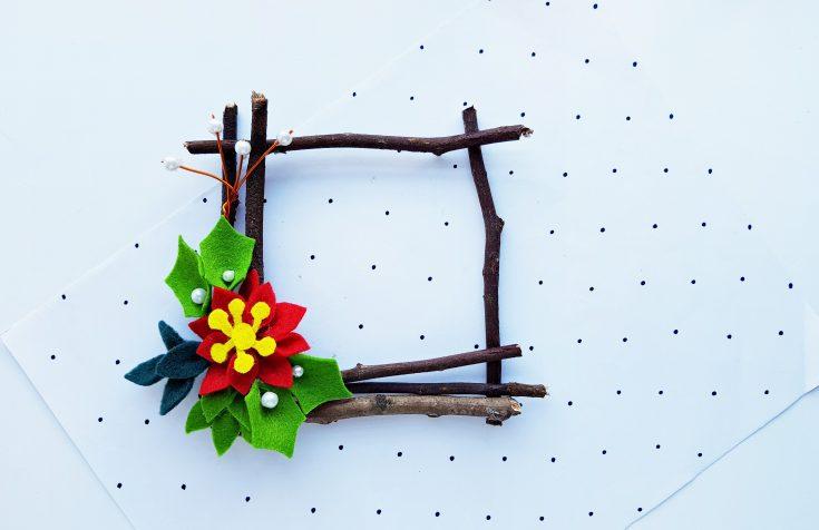 DIY Square Wreath Ornament Christmas Craft