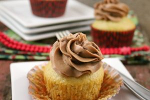 Spiced Rum Eggnog Cupcakes with Buttercream Frosting