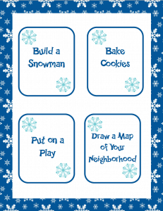 Bored on winter break? Check out this free printable download full of 20 indoor winter activities to keep your kids busy and active! There are ideas for kids and adults that you can do at home or in school. This is great family fun for all members of the family! #winterbreak #winteractivities #winterfun