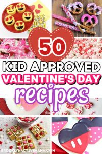Looking for some recipes to make with the kids on Valentine's Day? Check out these 50 Easy Kid Friendly Valentine's Day Recipes that will spread all of the love! Here are some fun snacks including pretzels, cupcakes, heart shaped cookies, chocolates and so much more! #valentinesdaysnacks #valentinesdayrecipes #vday #valentinesday