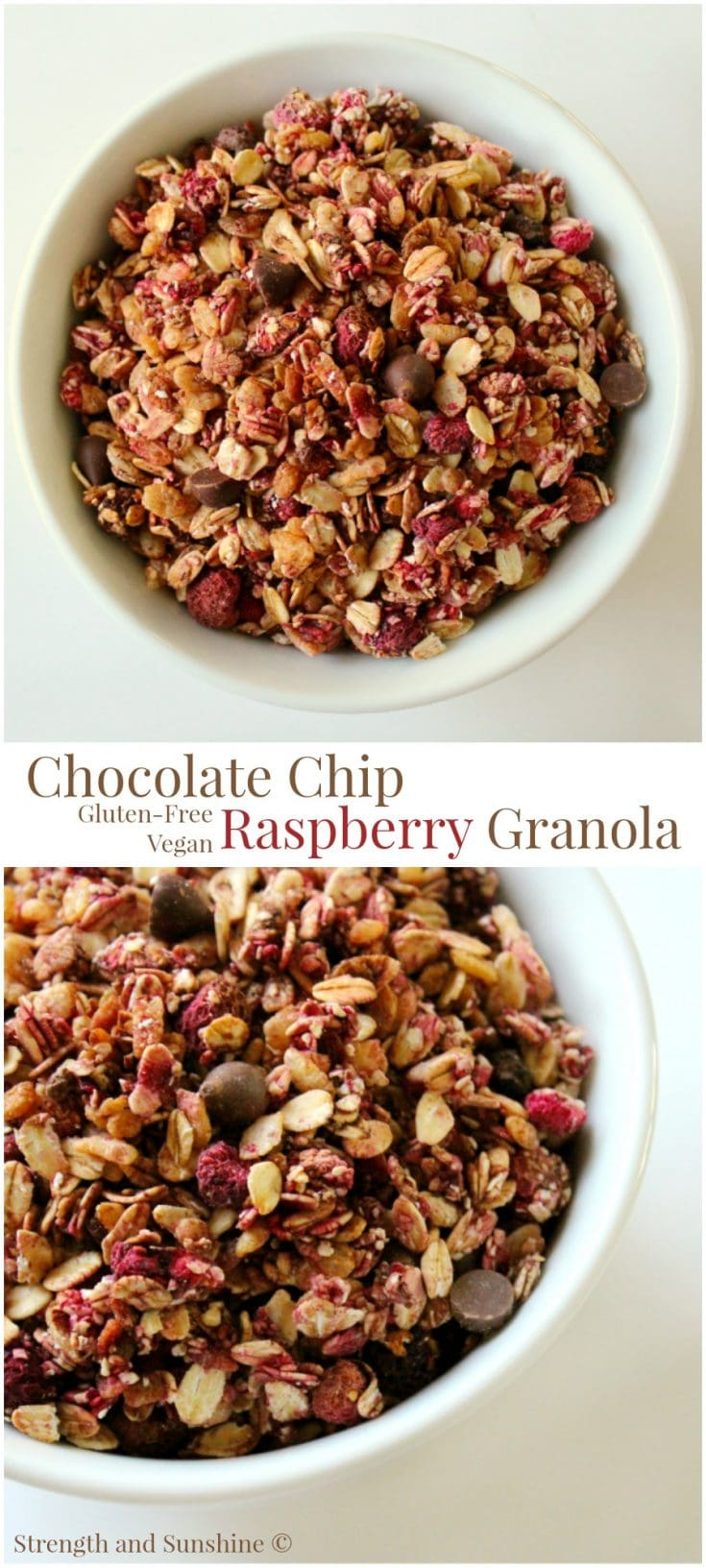 Chocolate Chip Raspberry Granola