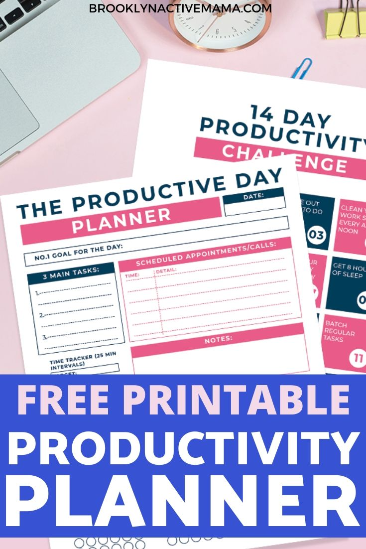 Today I've got a productivity planner and a 14 day challenge printable that will have you getting more things done in no time! You can use these sheets daily and get the motivation you need to complete all the tasks! It will help you to organize your life by setting goals and helping with time management. A super easy layout for business or daily life tasks. Grab your free printable download! #productivityplanner #productivity #taskmanager #stayorganized