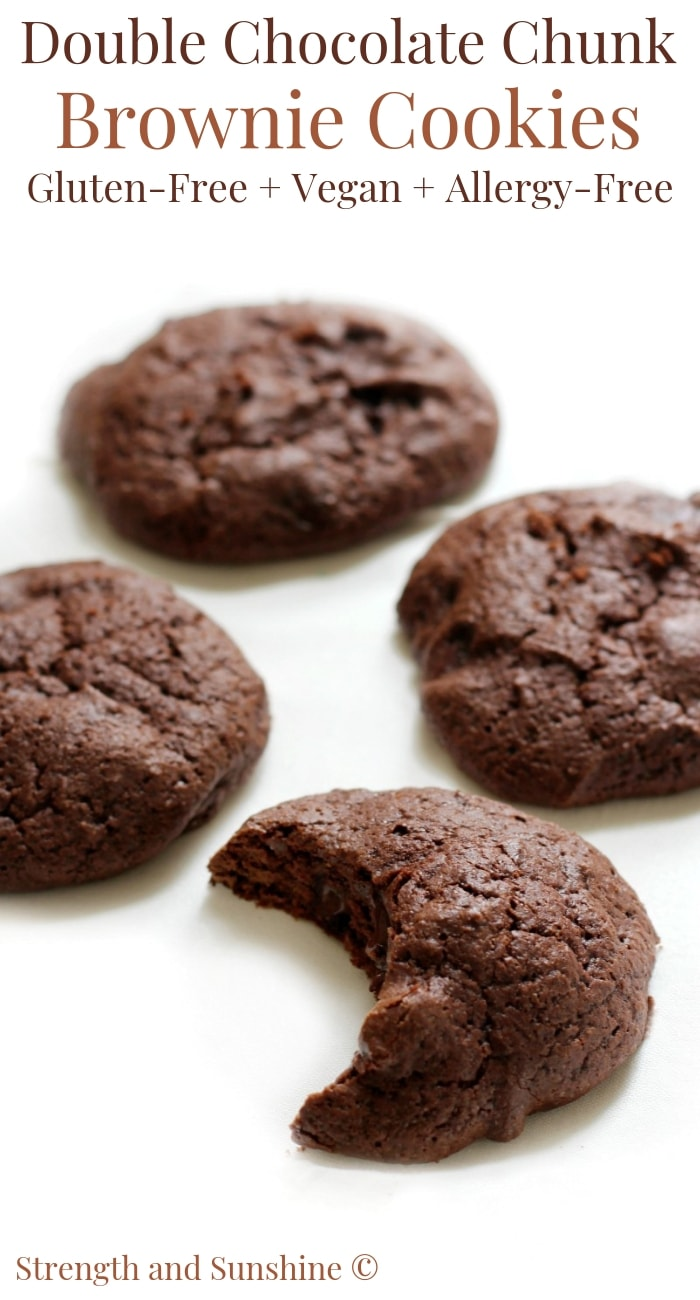 Gluten-Free Vegan Double Chocolate Chunk Brownie Cookies (Allergy-Free)