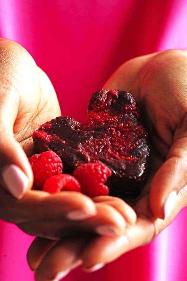 Heart Shaped Raspberry Brownies Recipe