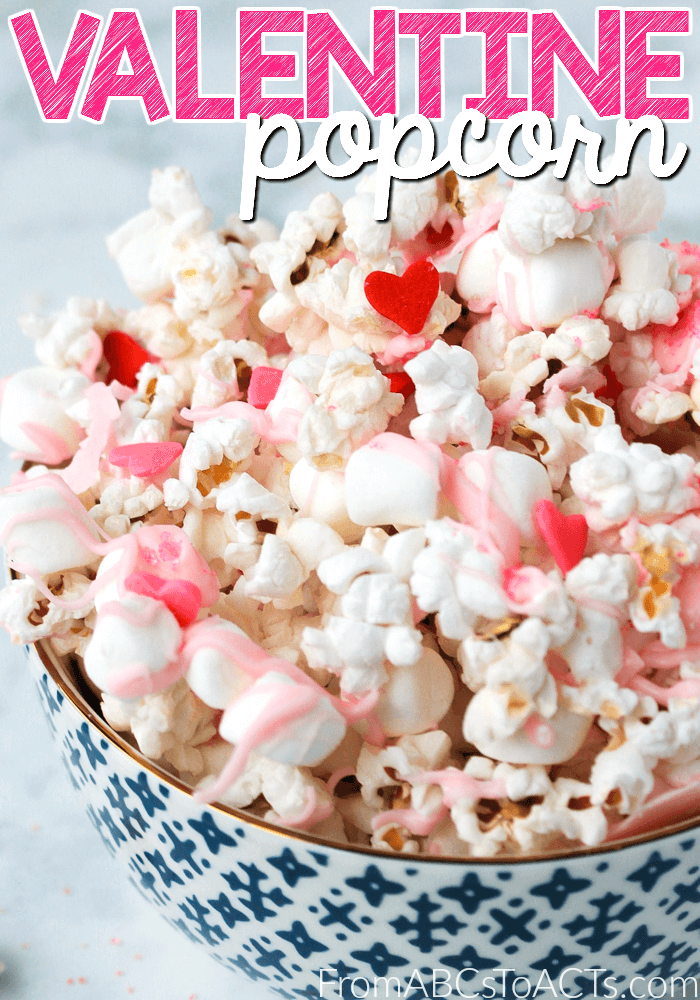 Easy Valentine's Day Popcorn for Kids