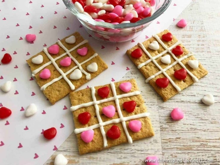 Tic Tac Toe Treat Valentines Day Food Idea