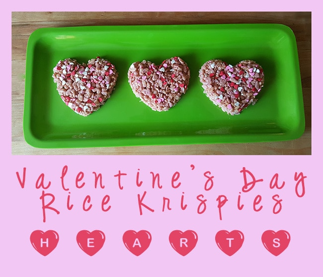 Valentines Day Rice Krispies Hearts - Mom's Blog