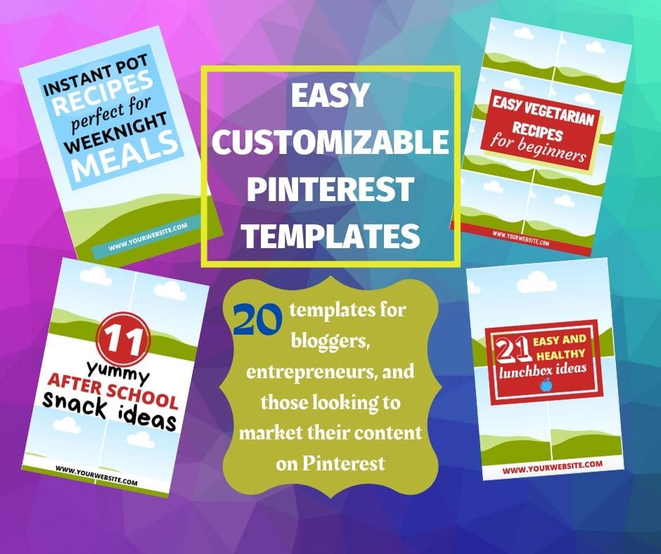 If you have been paying attention in the blogger world you already know that Pinterest is an amazing place to get traffic. I have created 20 amazing customizable canva pinterest templates for you to use over and over!
