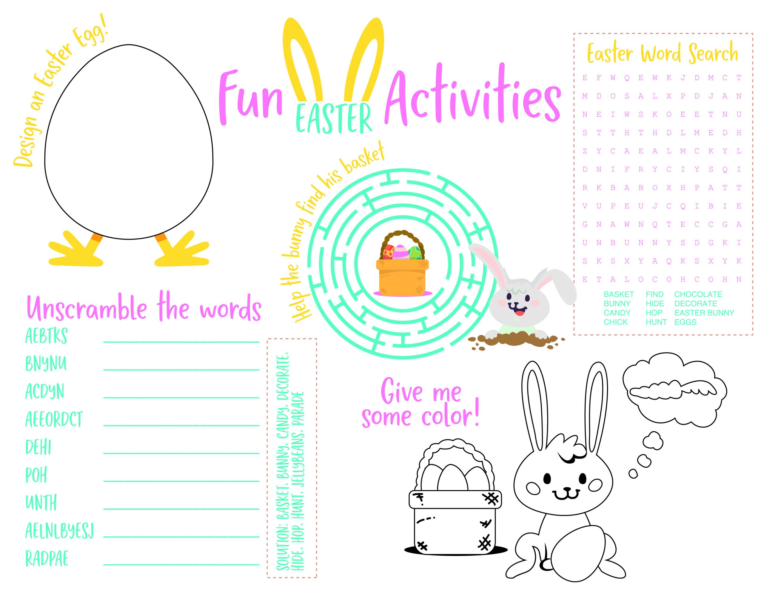 It is a photo of Printable Easter Activities with church