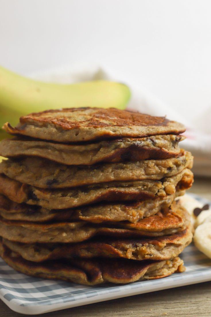 Amazing Peanut Butter Oat Pancakes