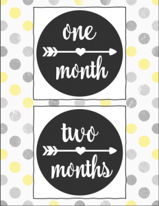Today I've got a free printable baby journal and monthly tracker to help you keep track of all the wonderful memories of baby's first year. This journal helps you keep track of naps, feedings, tummy time, what baby is saying, activities and so much more! Plus a month by month printable that you can take photos of the baby next to! #babyjournal #pregnancy #newborn