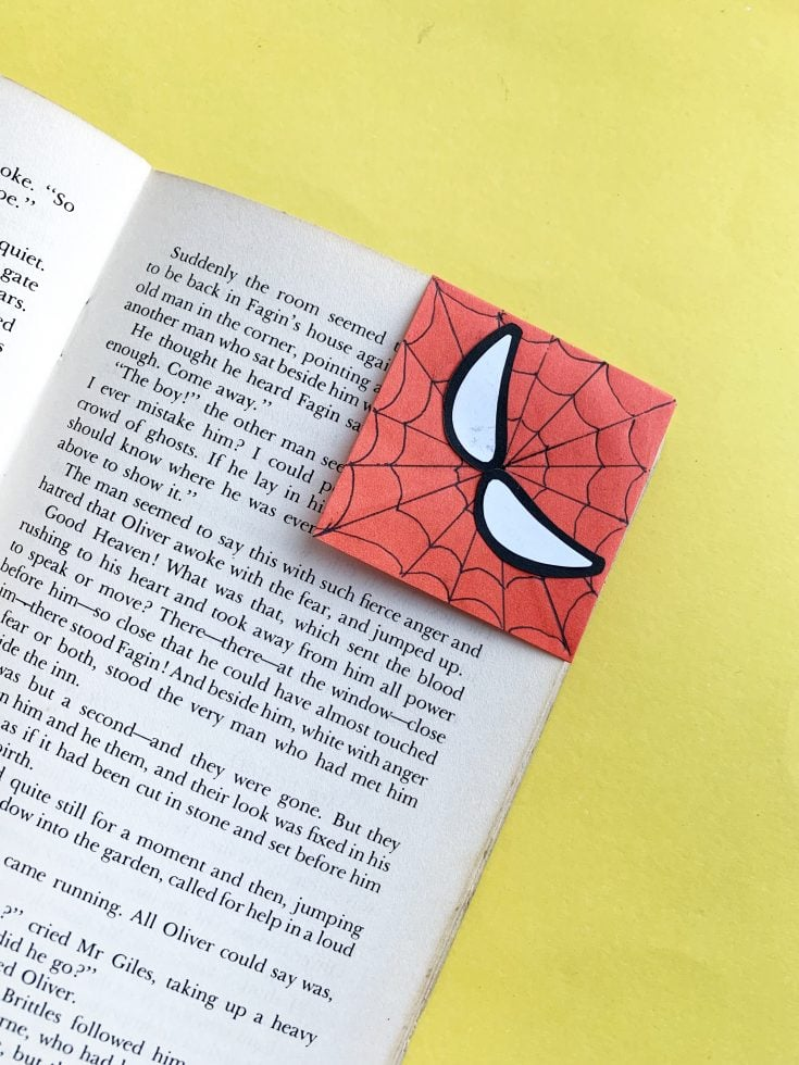 Easy Spiderman Bookmark Craft For Kids