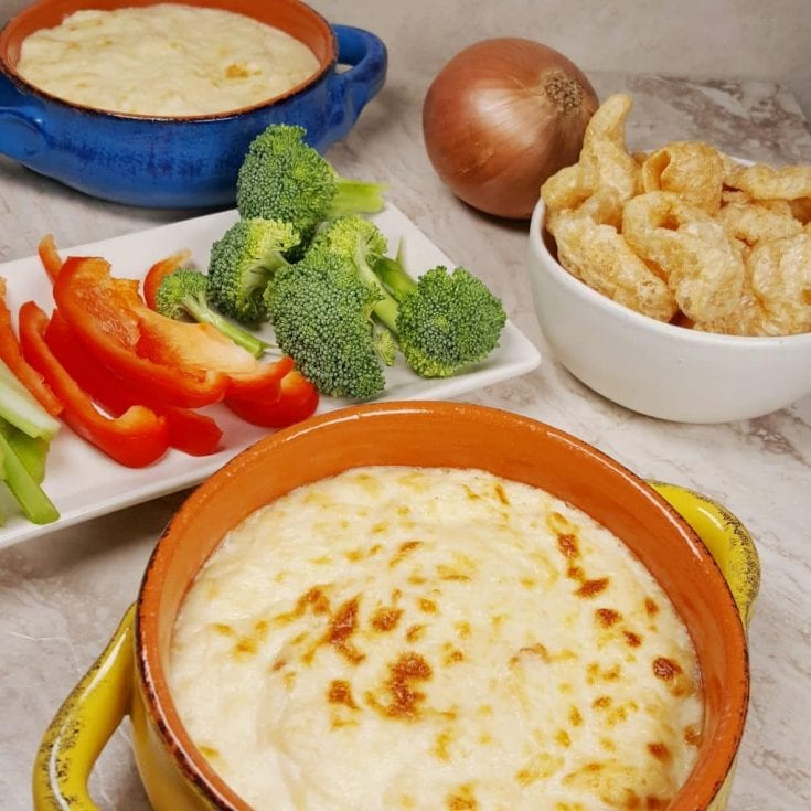 Pressure Cooker Creamy Hot Onion Dip Appetizer Low Carb Keto