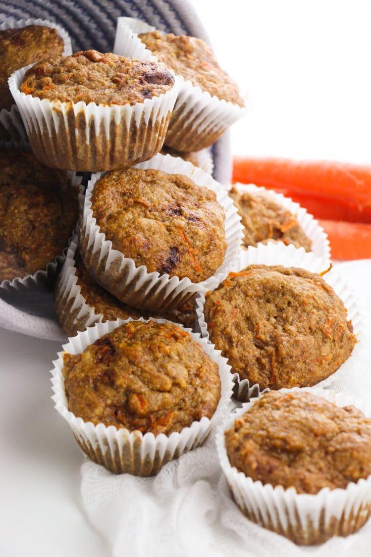 Easy No Sugar Healthy Carrot Muffins