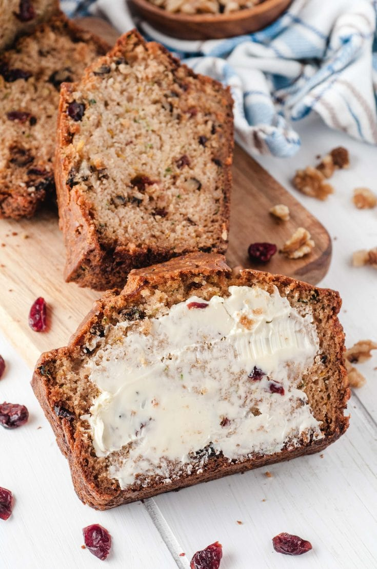 Cranberry Walnut Zucchini Bread