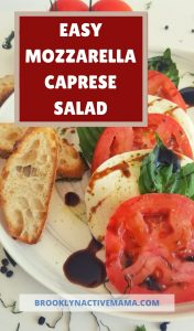 This simple and delicious mozzarella caprese salad recipe is the perfect appetizer for any occasion. A family favorite using simple fresh ingredients! A classic tasty no heat appetizer that can be ready in 10 minutes! #mozzarella #caprese #appetizer #easyappetizer