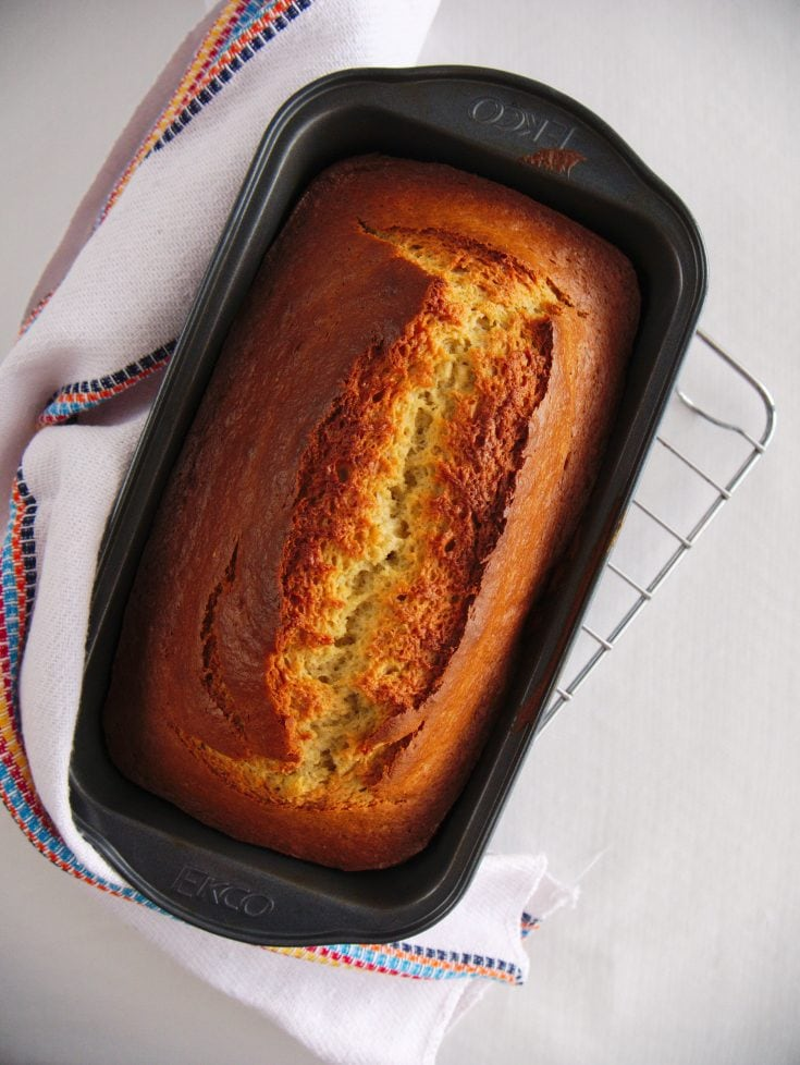 Easy 5 Ingredient Banana Bread Recipe