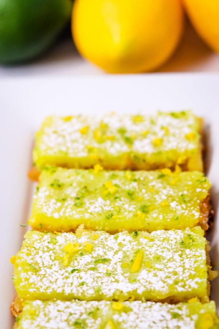 Amazing and Yummy Lemon Lime Bars