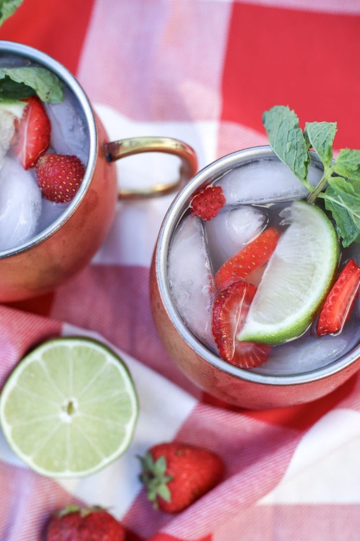 Easy Strawberry Moscow Mule Cocktail Recipe