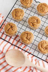 Pumpkin Spice Latte Cupcakes In Process