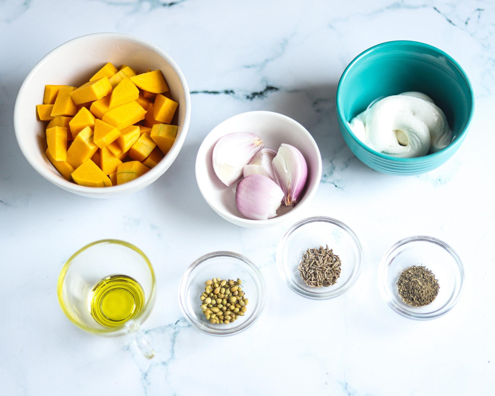 Roasted Pumpkin Soup Ingredients
