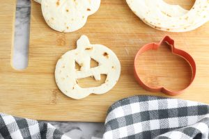 Easy Jack O' Lantern Halloween Quesadillas