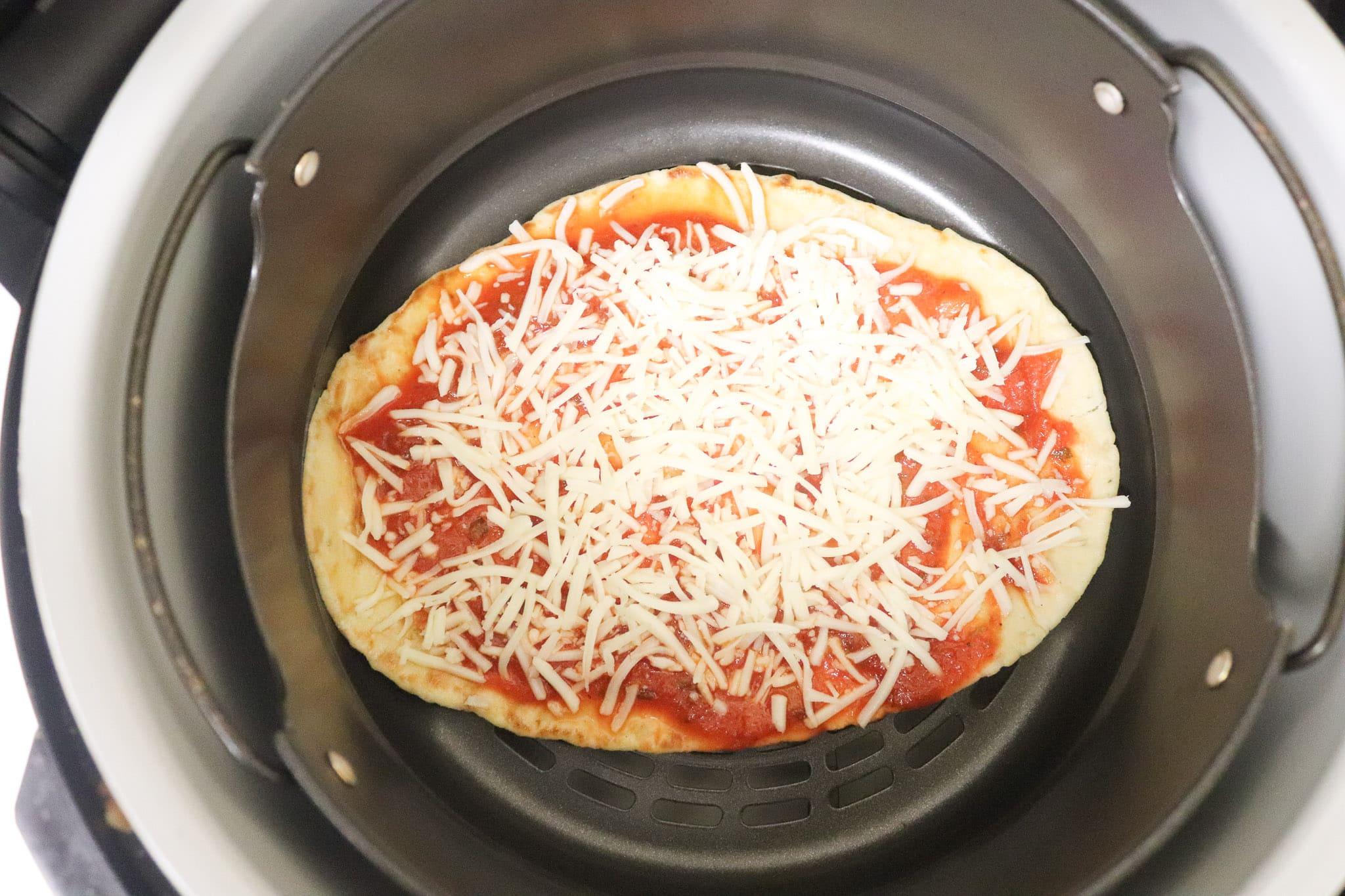 Air Fryer Cheese Pizza in ninja foodi