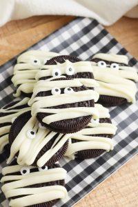 Mummy Halloween Cookies