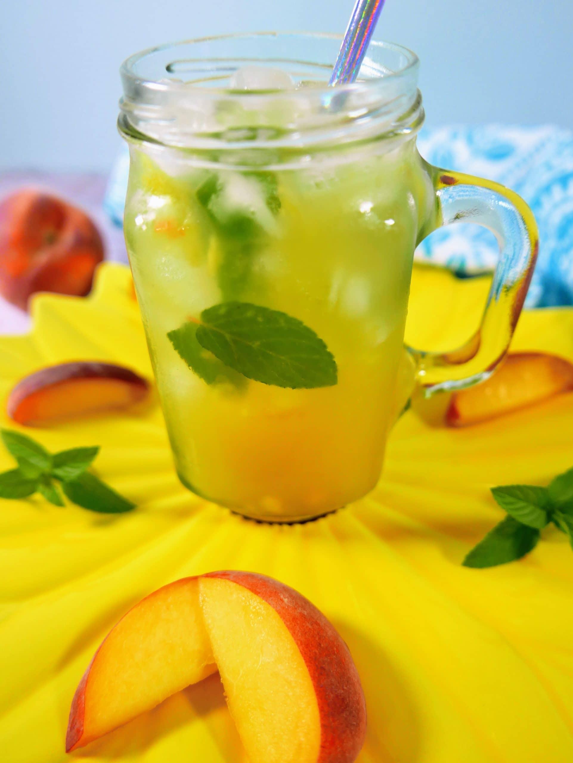 Peach Pineapple Mojito Mocktail